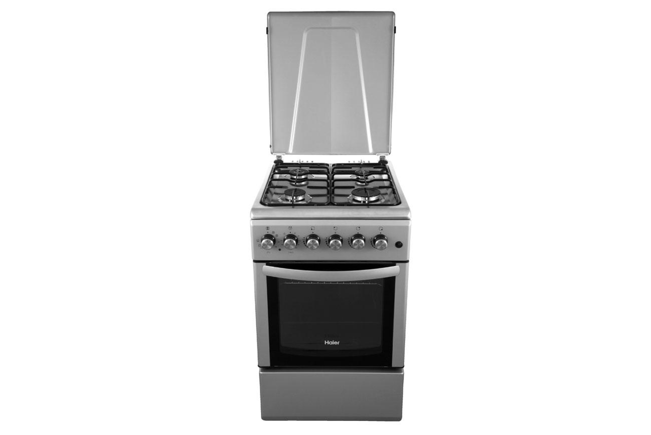 Kuchnia gazowo elektryczna Haier CSGF56MES srebrna (6605876901)  Allegro pl   # Kuchnia Elektryczna Bez Piekarnika