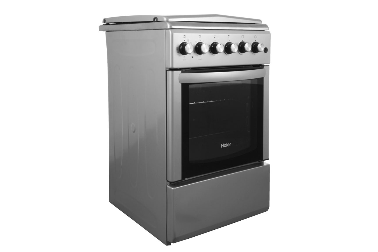 Kuchnia gazowo elektryczna Haier CSGF56MES srebrna (6605876901)  Allegro pl   -> Kuchnia Elektryczna Bez Piekarnika
