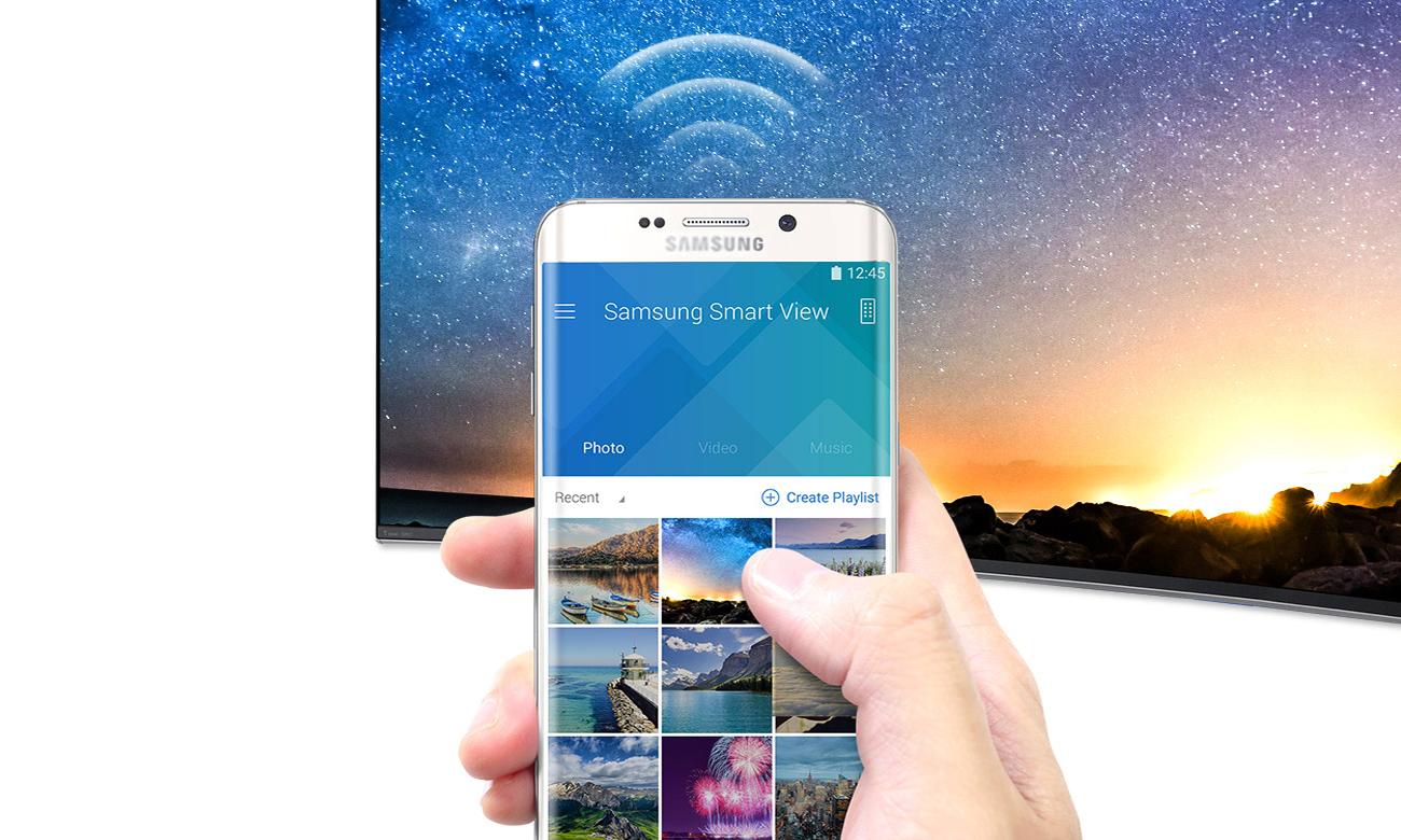 Łączność telewizora Samsung UE55KU6400 z smartfonem