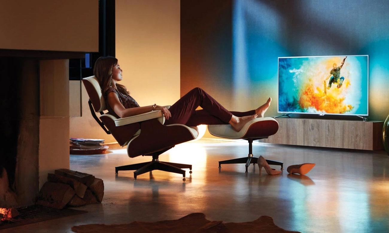 Optymalizacja kontrastu Technologia Micro Dimming Pro w telewizorze Philips 49PUS6482