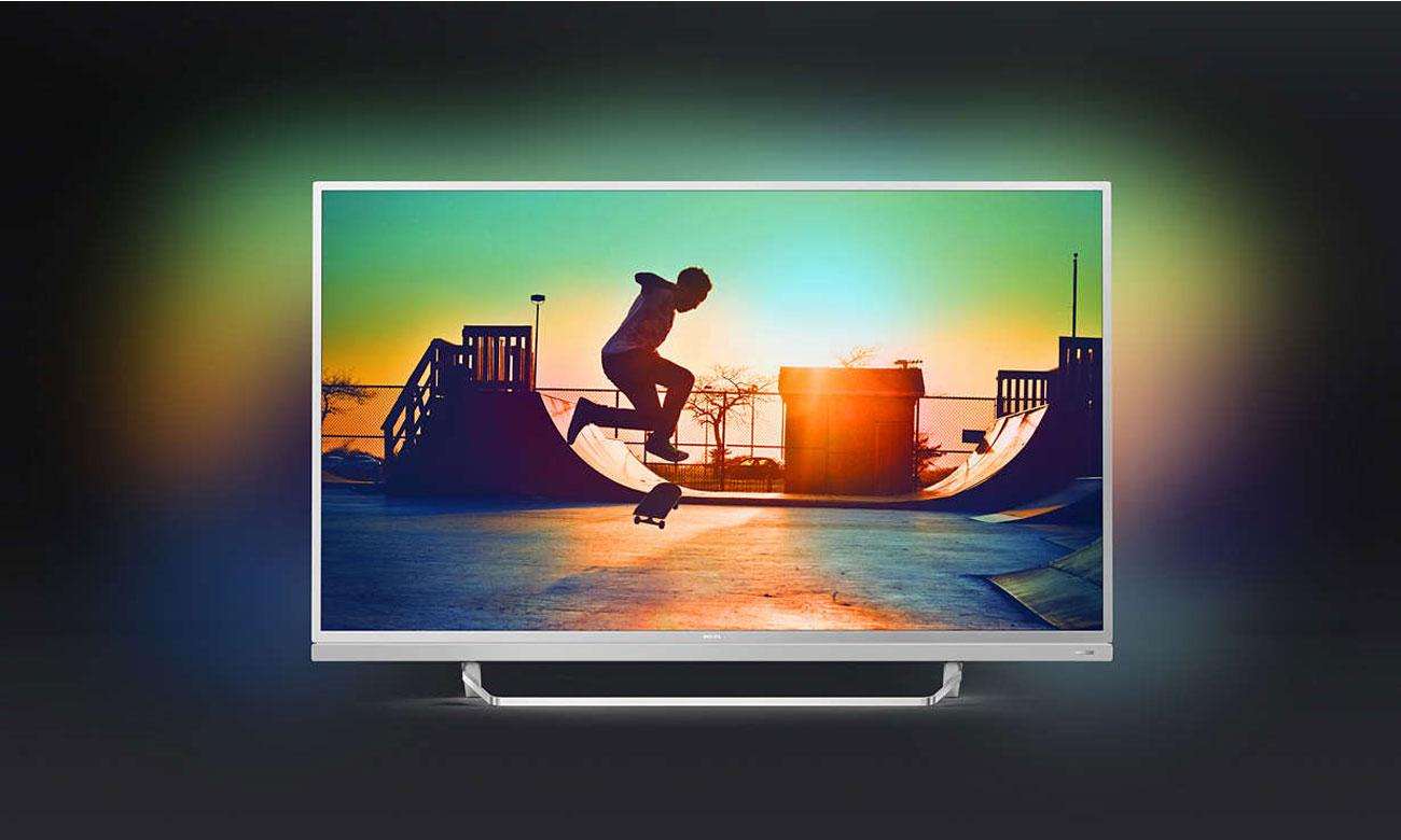 Obraz pełen ostrości i kontrastu, dzięki technologii HDR Premium w telewizorze Philips 49PUS6482