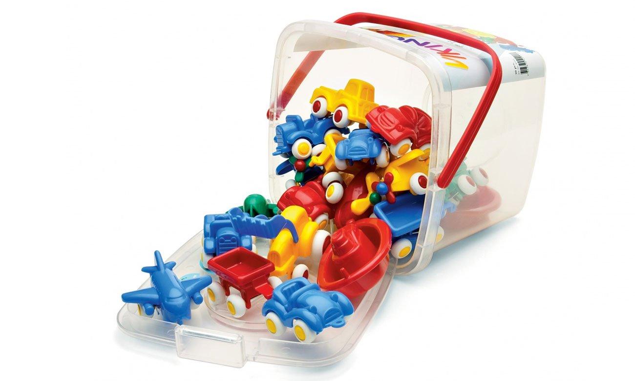 Pojazdy w wiaderku Jumbo od Viking Toys