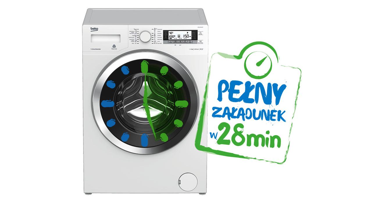codziennie szybkie pranie z pralką beko WRE6501B0