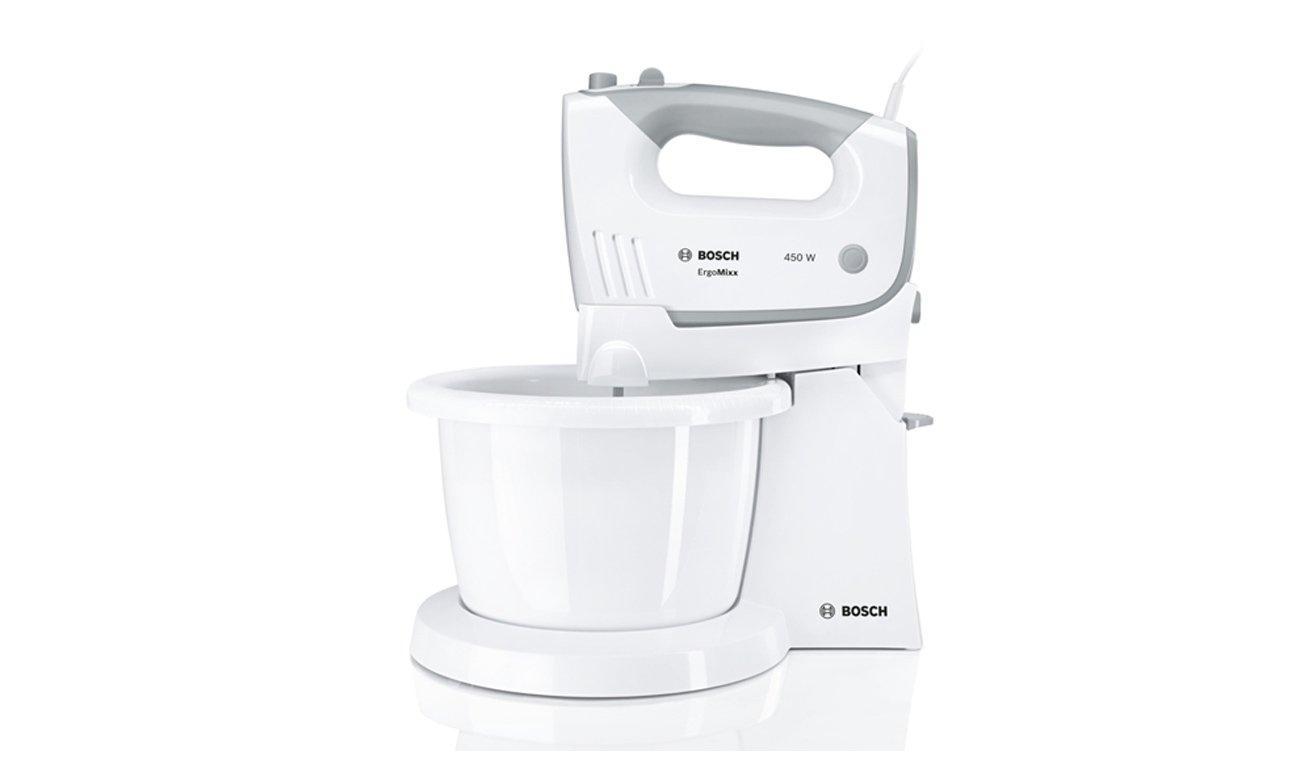 Mikser ręczny Bosch MFQ36490 450W biało-szary z misą nowoczesny design