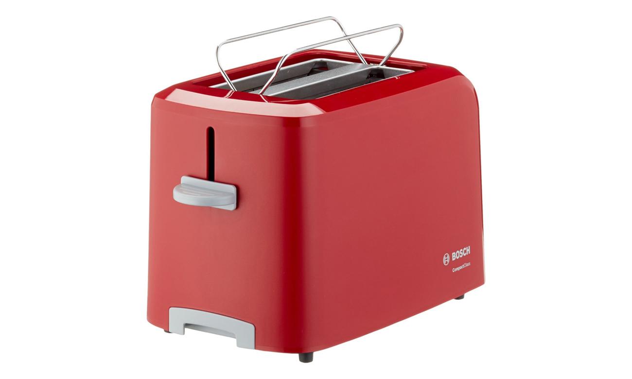 Toster Bosch TAT3A014 980W czerwony pyszne tosty