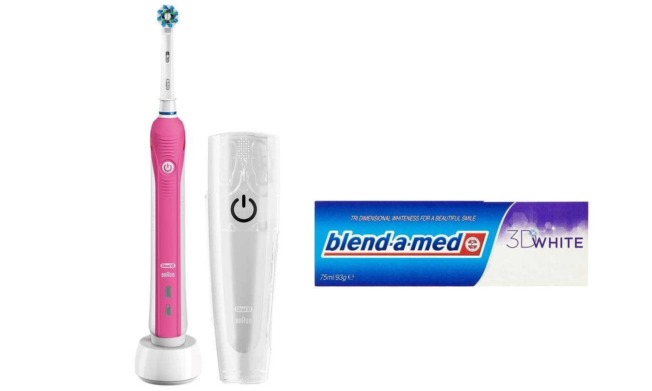 Zestaw Oral-B szczoteczka Pro 2500 Pink + Pasta