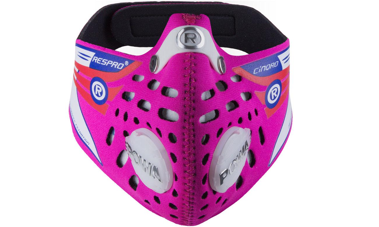 Maska antysmogowa Cinqro Pink M