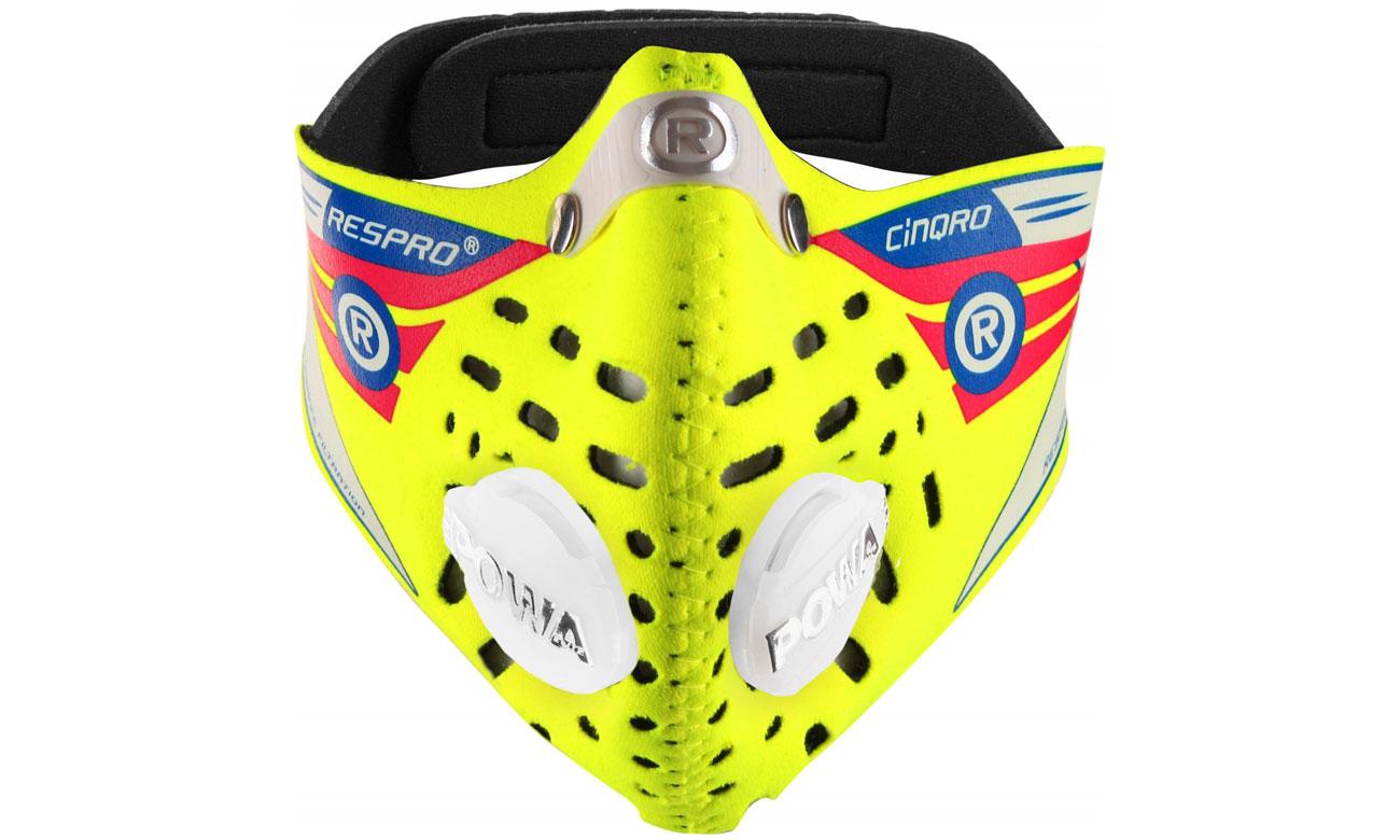 Maska antysmogowa Respro Cinqro yellow