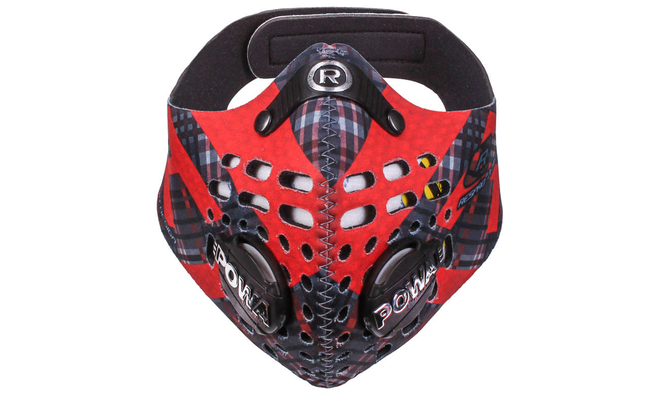 Antysmogowa maska Respro Skin Tartan Red XL