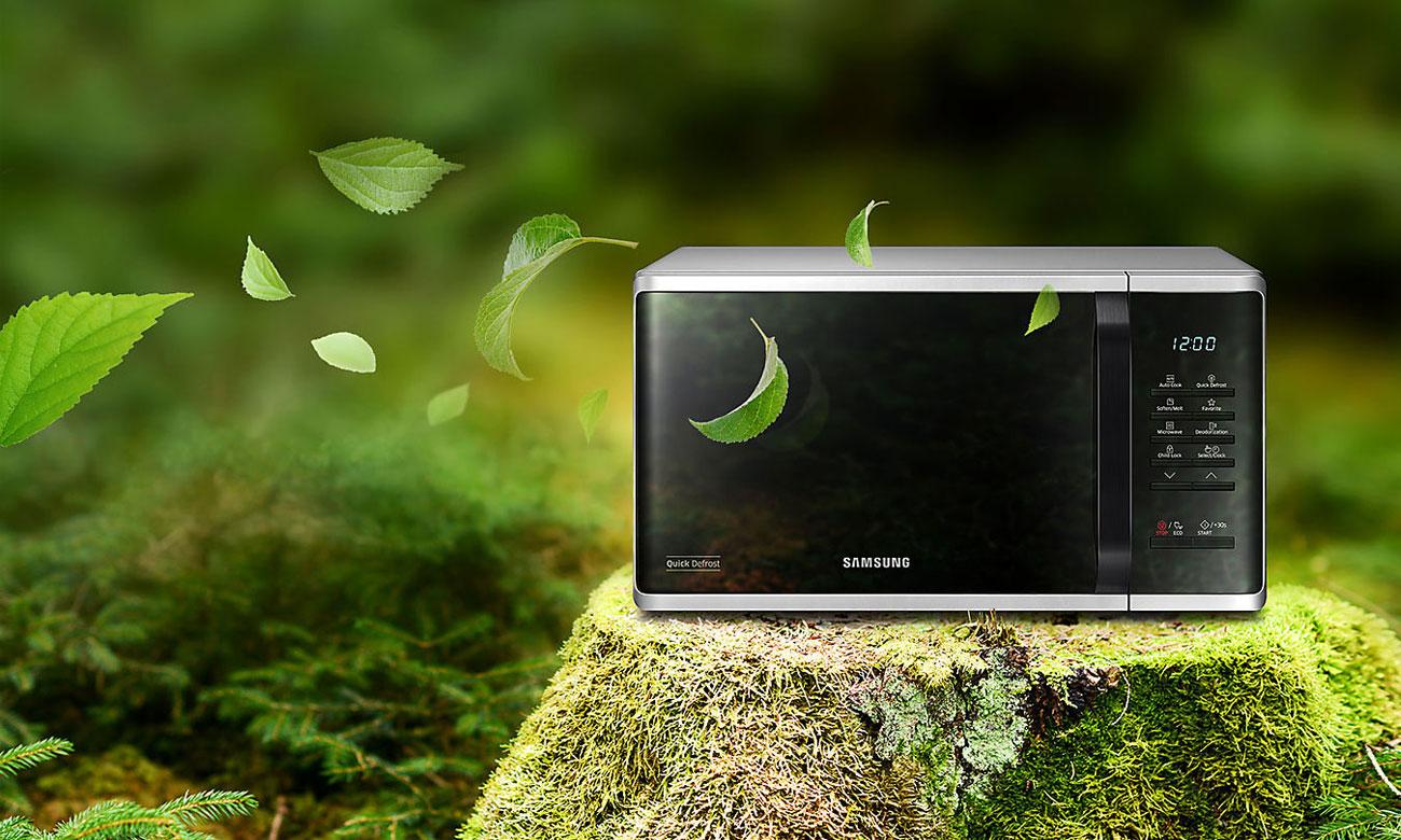 Екорежим в мікрохвильовій печі Samsung MS23K3513AS