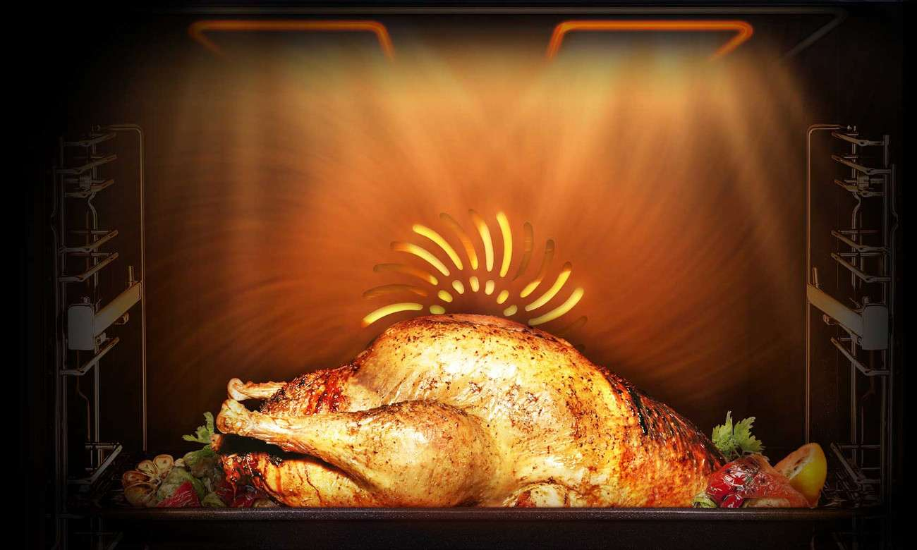 kurczak we wnętrzu Samsung NV66M3571BB