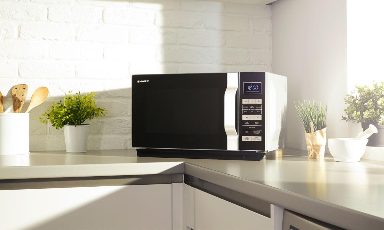 Timer w kuchence mikrofalowej Sharp R360BK