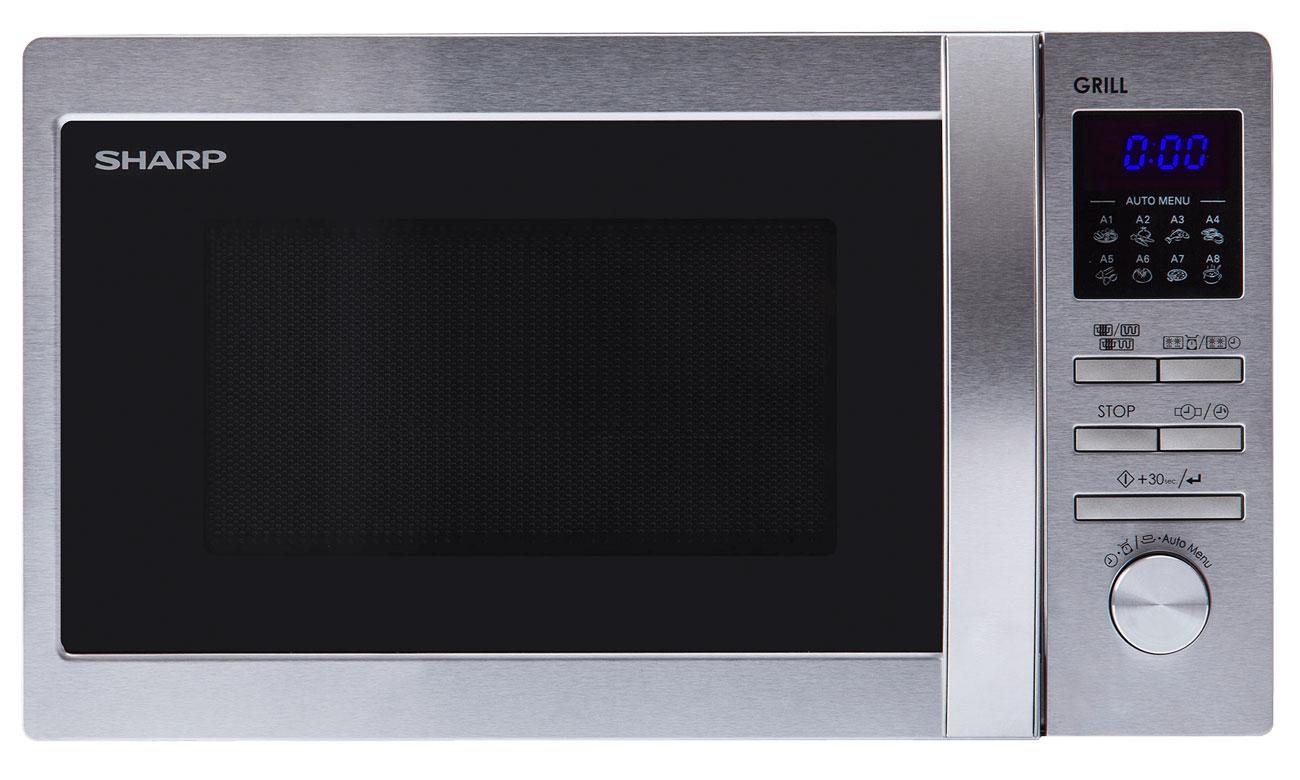 5 poziomów mocy w kuchence mikrofalowej Sharp R622STWE