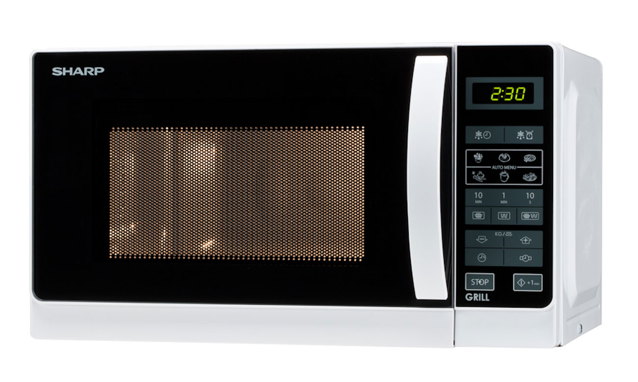 Timer w kuchence mikrofalowej Sharp R642WW