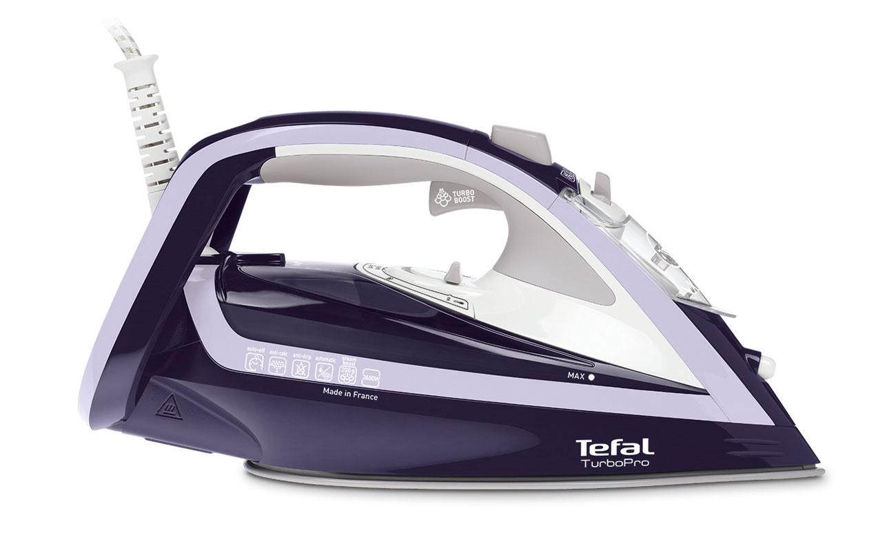 Żelazko Tefal Turbo Pro FV5615 o dużej mocy 2600 W