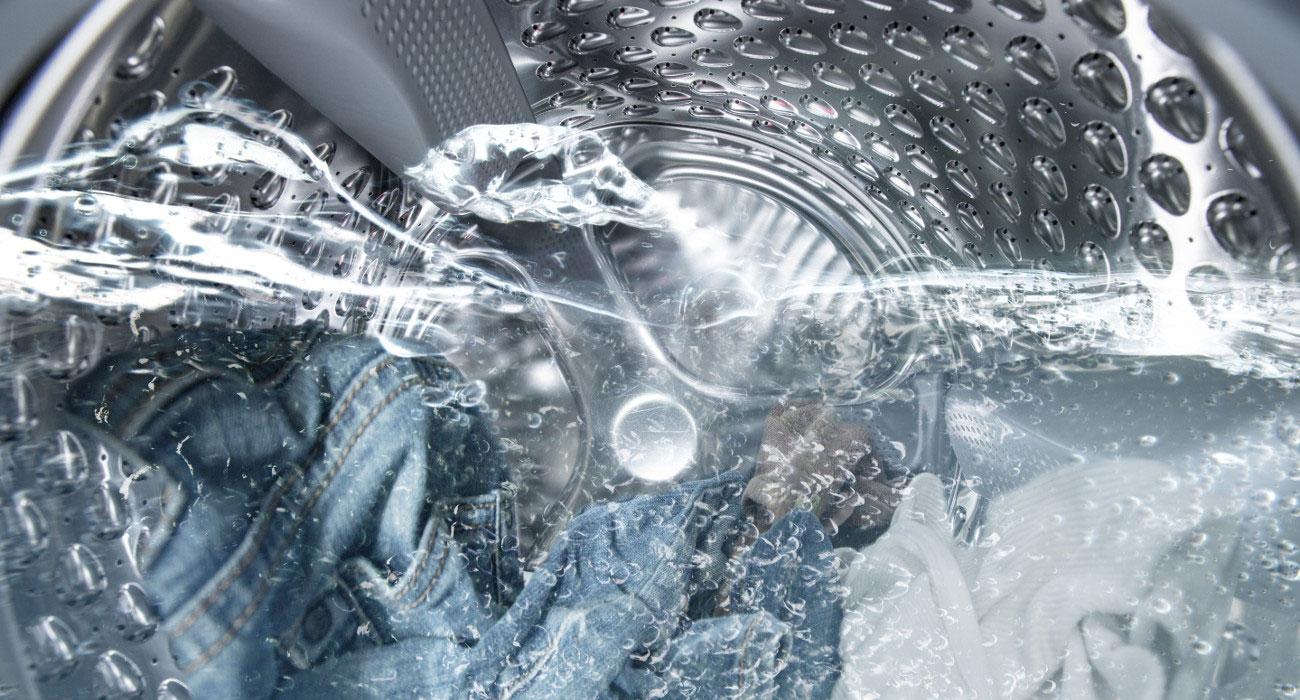 Automatyczne dostosowanie ilości wody do prania