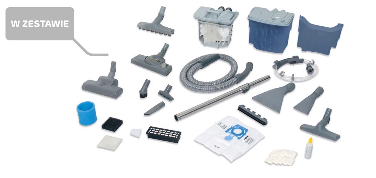 Wyposażenie odkurzacza Zelmer Aquawelt Plus ZVC762ZT