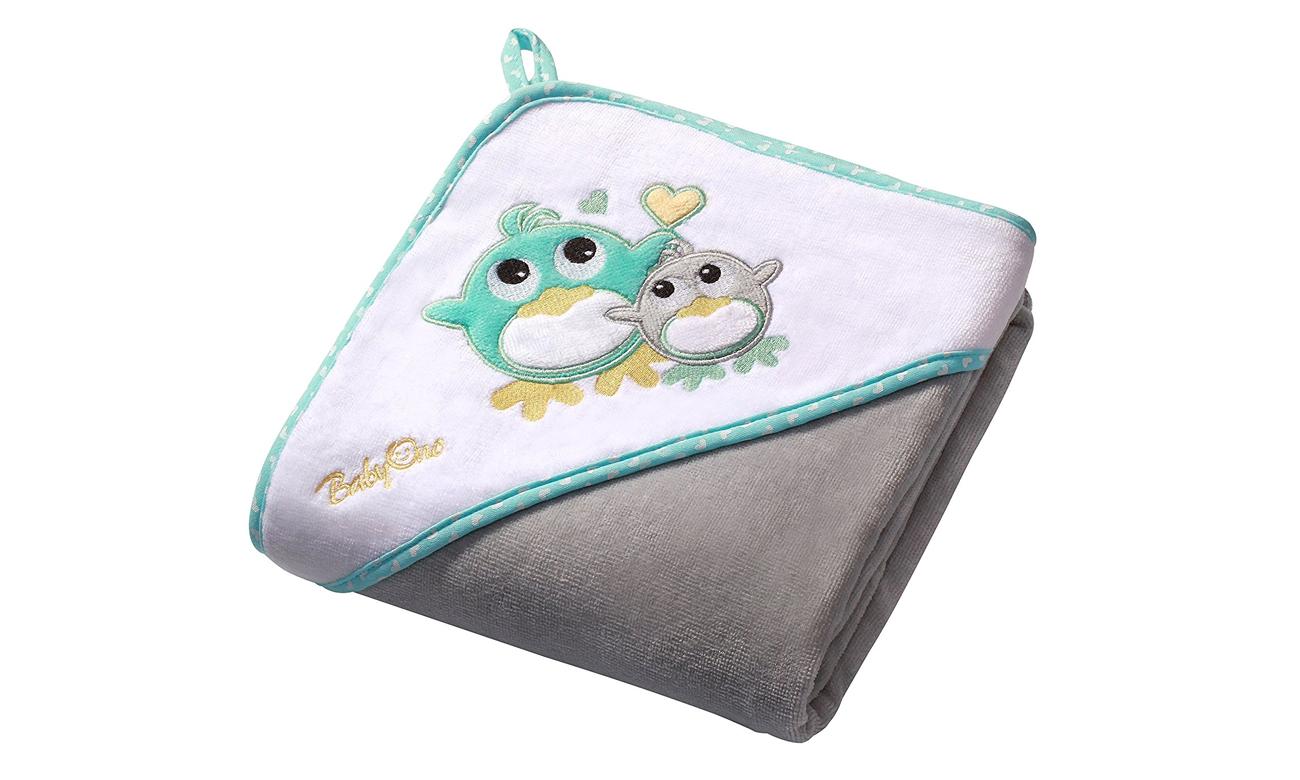 Okrycie Kąpielowe Ręcznik Z Kapturem 100x100 Szary