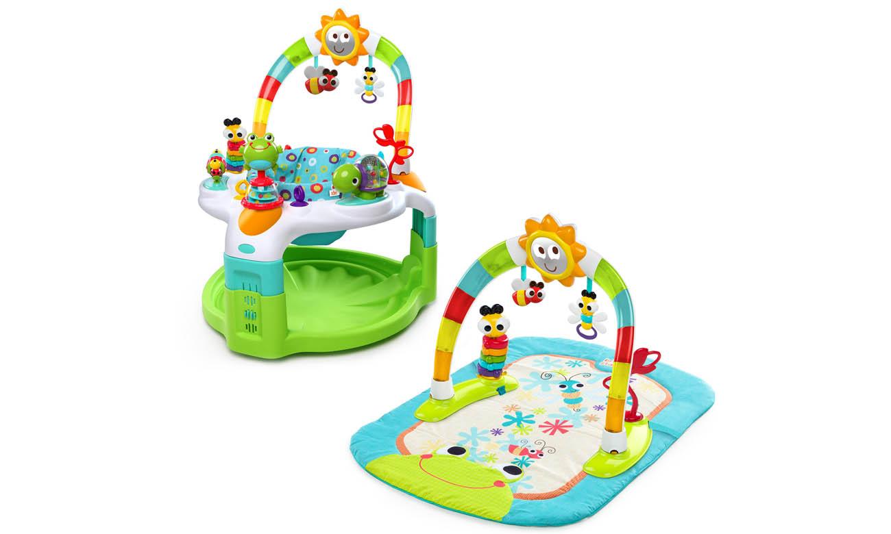 zestaw krzesełko zabaw i mata słoneczko bright starts