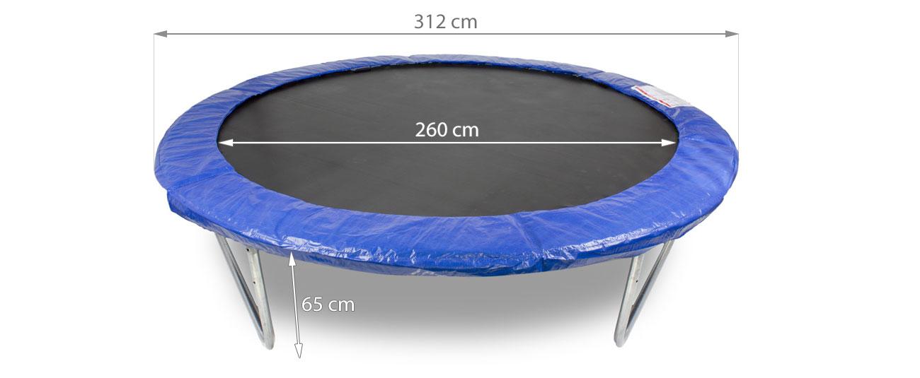 Trampolina HOPPA 312 cm z akcesoriami