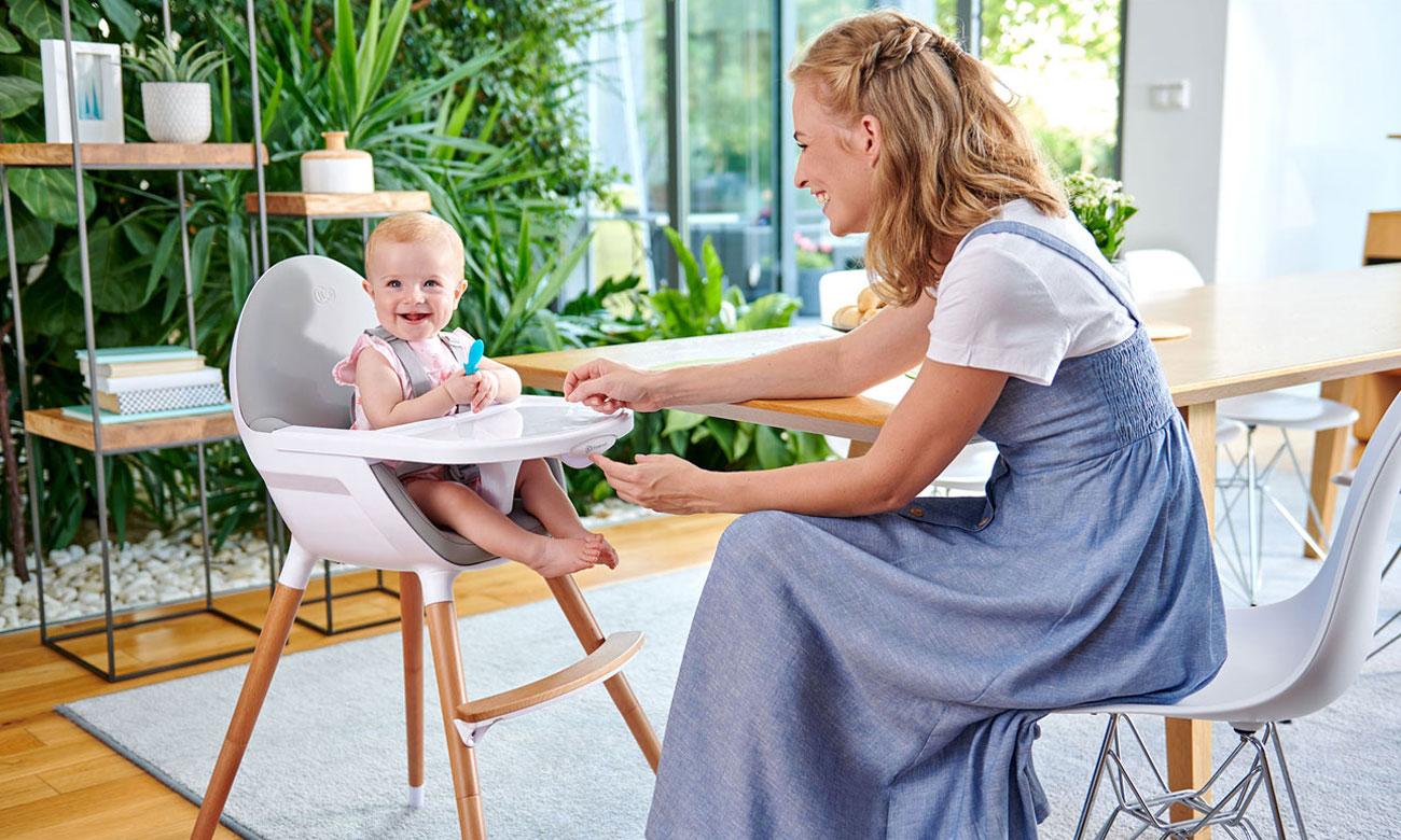 Krzesełko do karmienia KinderKraft 2w1 Fini Full Black