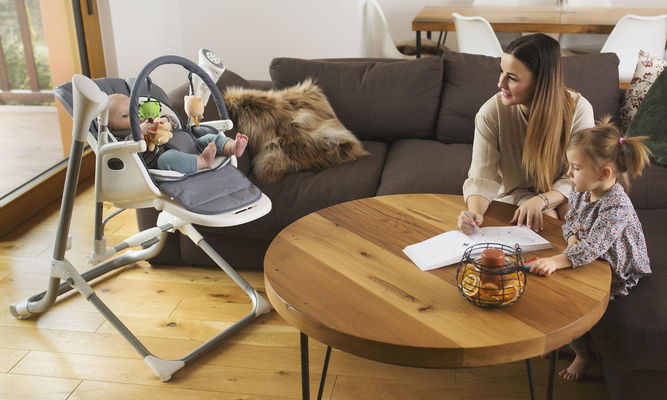 krzesło karmienia bujaczek kołyska lionelo niles