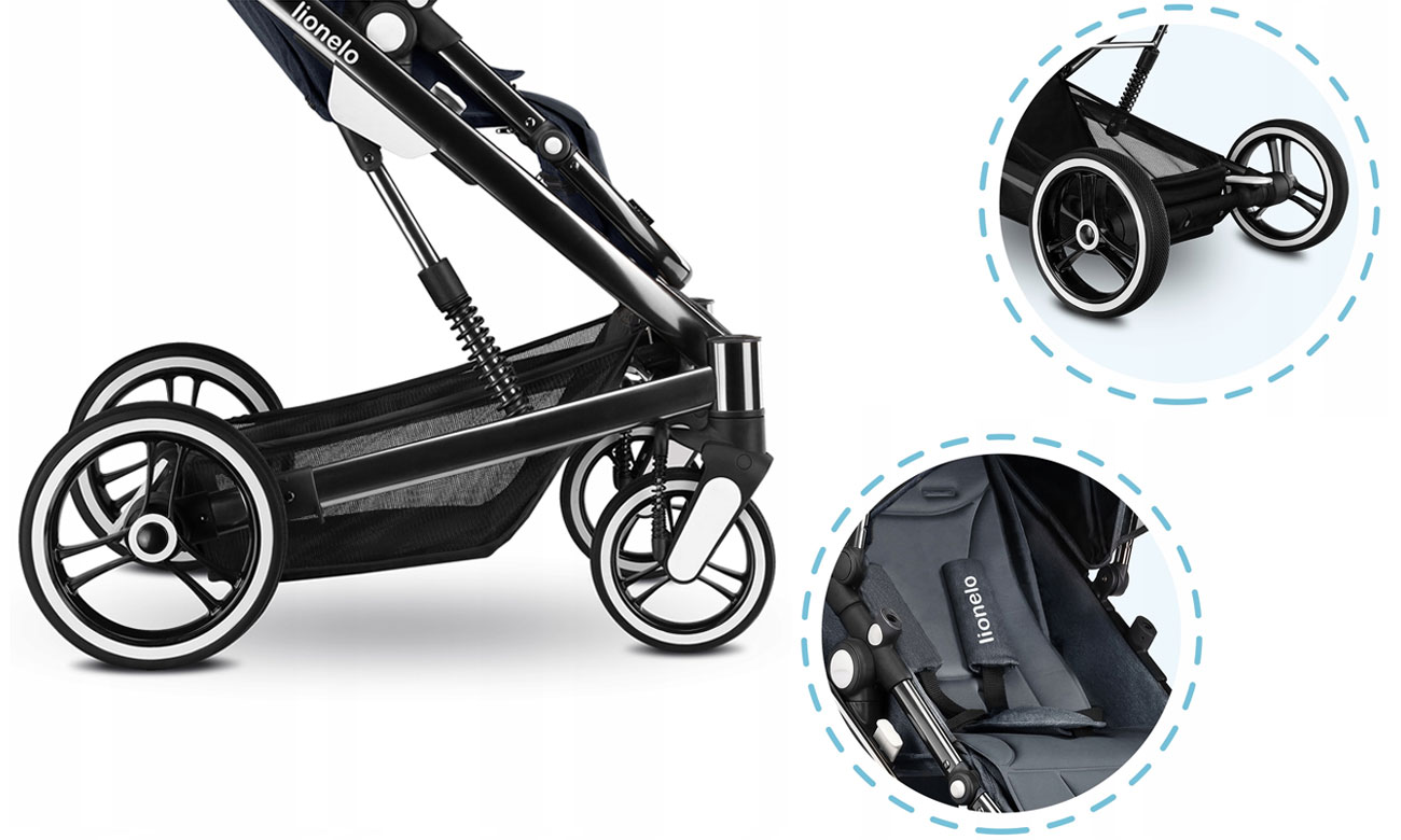 Wygodny wózek dla dziecka Lionelo Mari 2w1