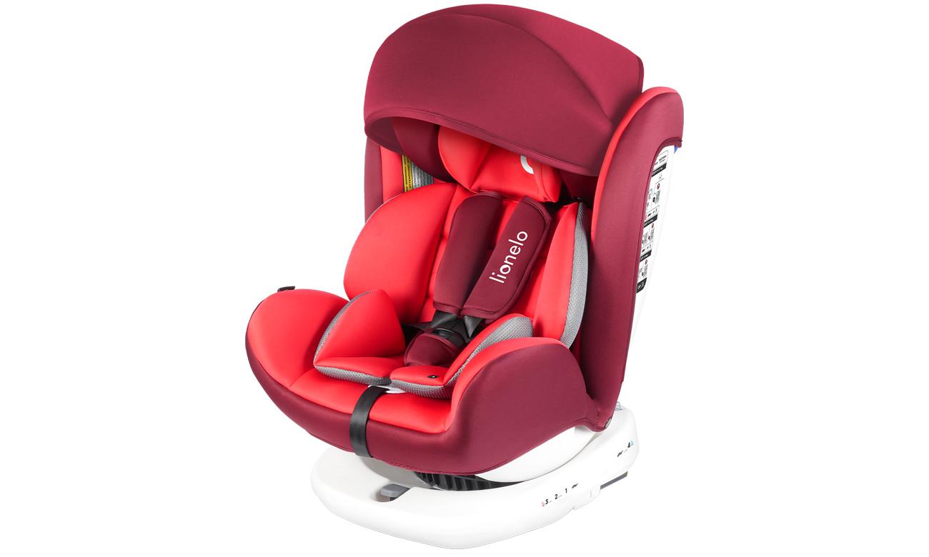 Wygodny fotelik samochodowy Lionelo Bastiaan Red