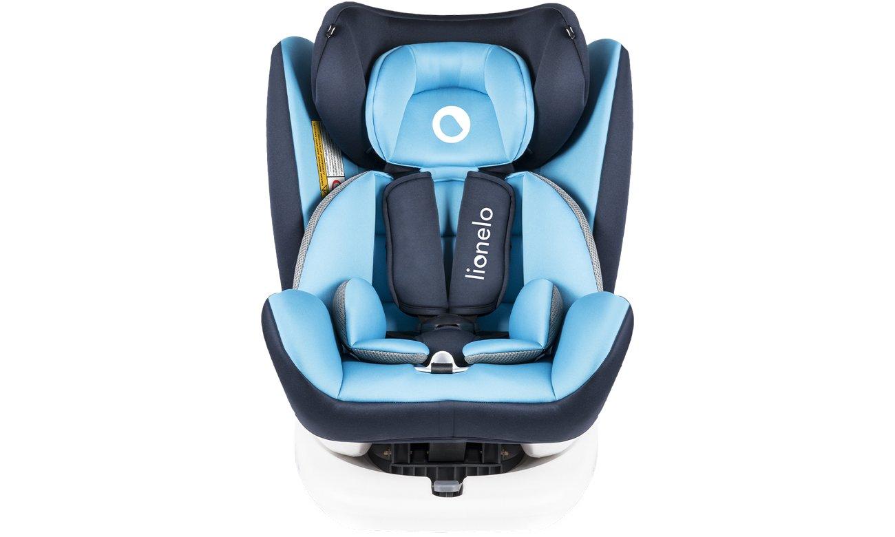 Bezpieczny Fotelik samochodowy Lionelo Bastiaan Blue