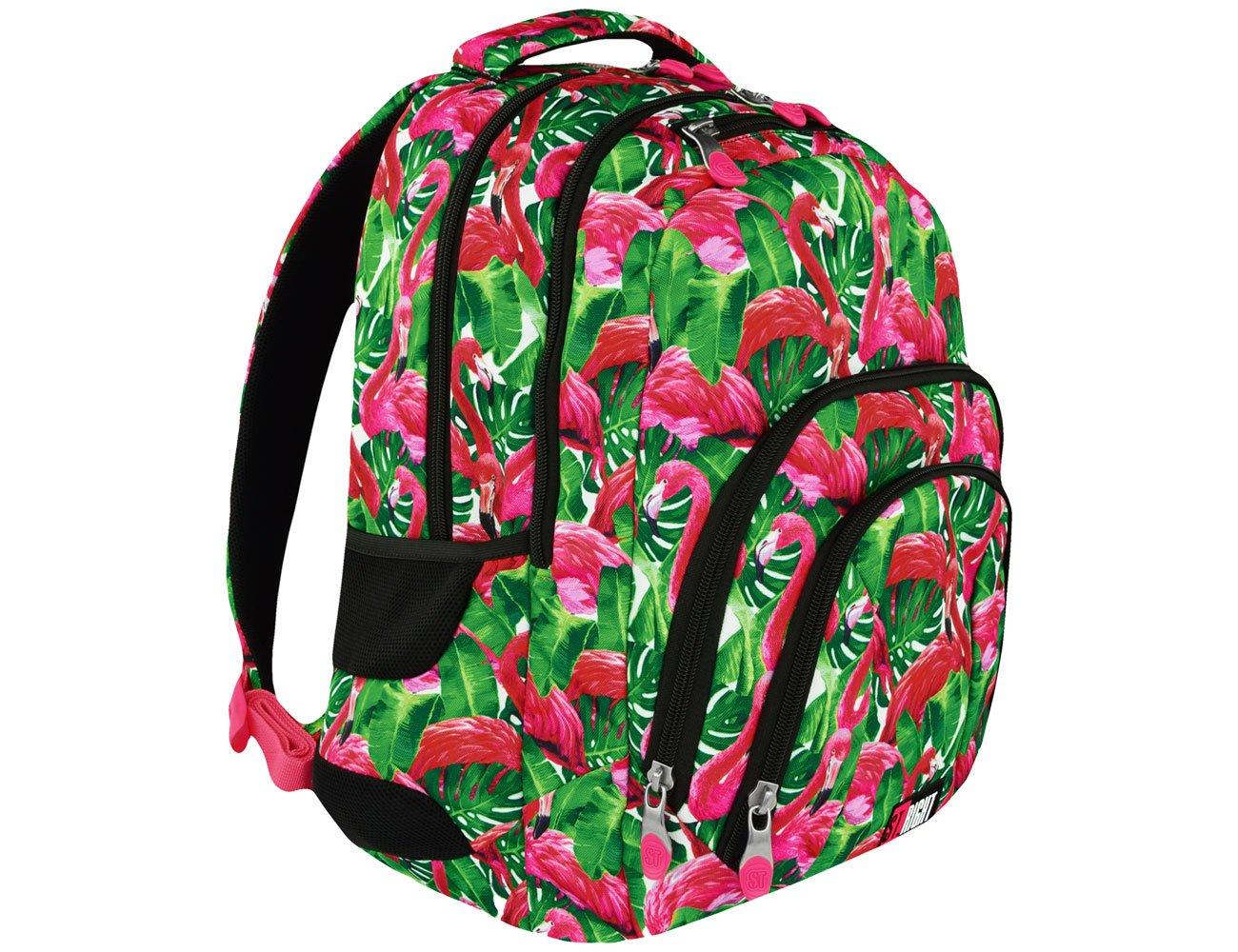 Majewski ST.Right Plecak szkolny Flamingo Green BP-25 5903235618611