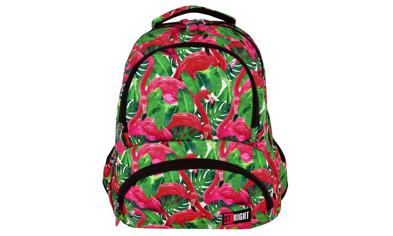 plecak majewskiego Flamingo Pink & Green