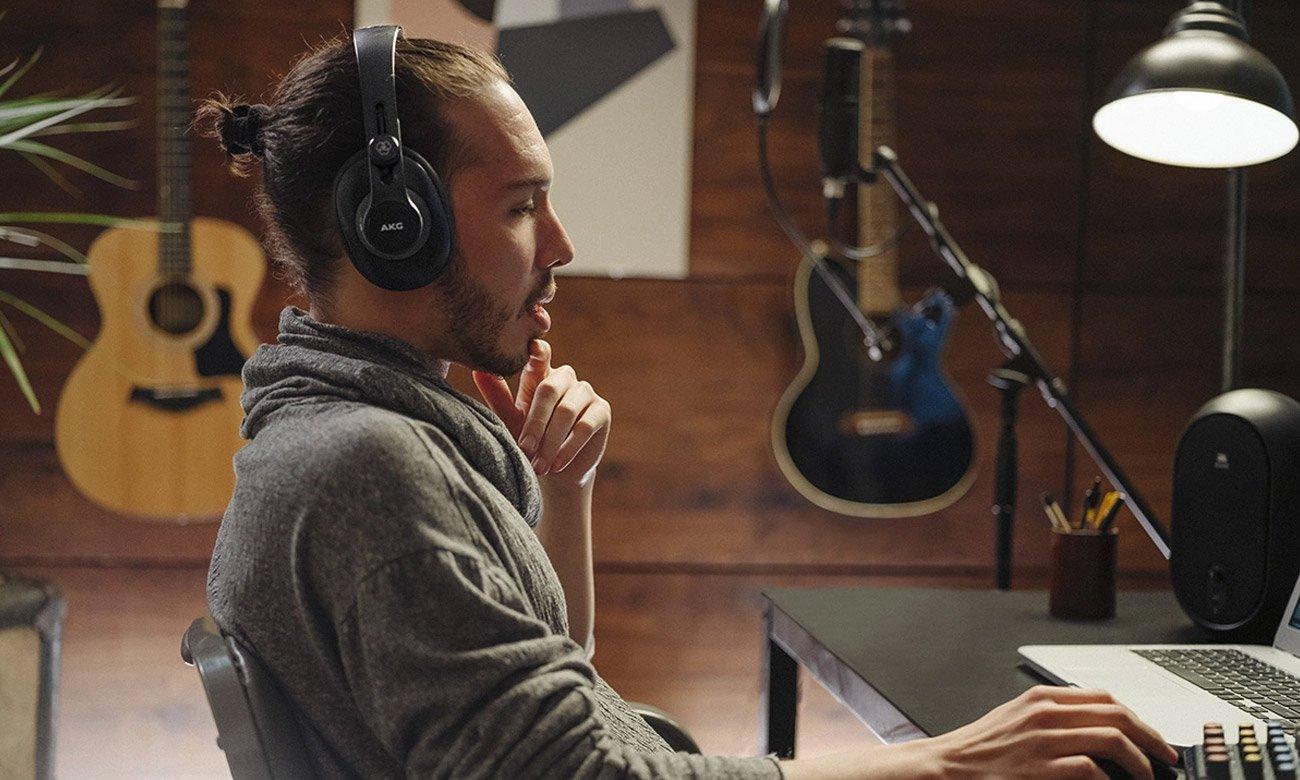Słuchawki do miksowania i monitoringu dźwięku AKG K371