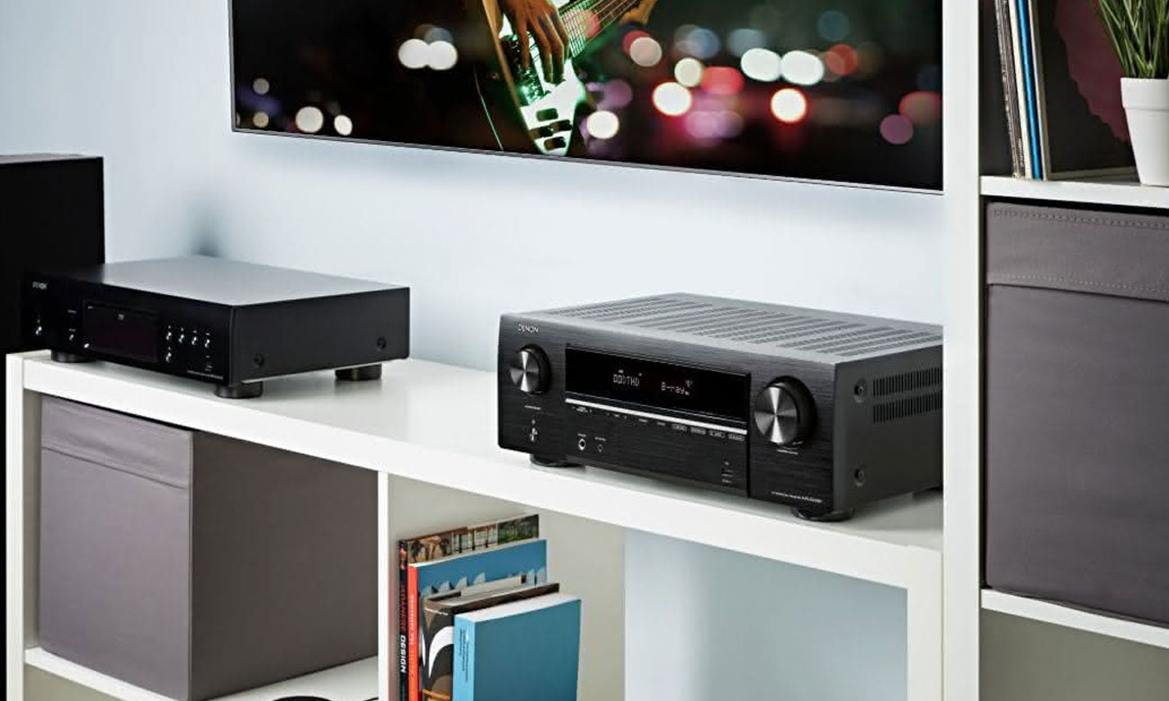 Dźwięk wysokiej jakości z amplitunerem AVR-X550BT Denon