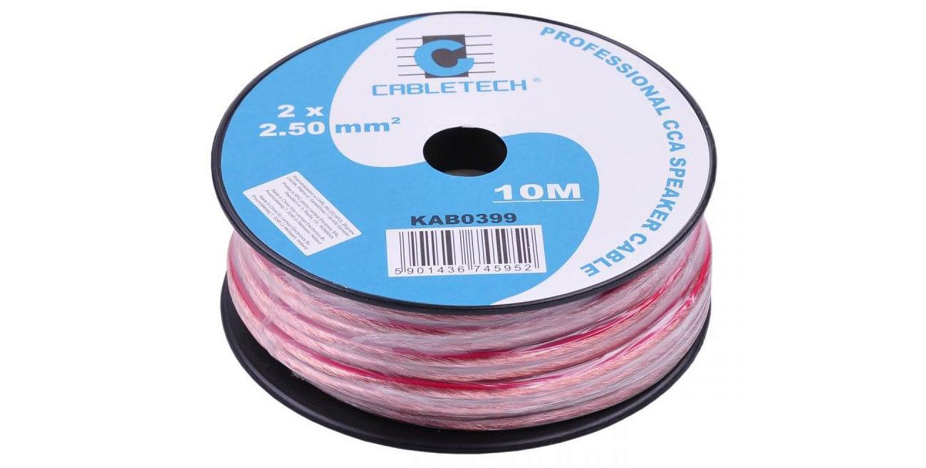 CABLETECH Kable głośnikowe CCA 2.5mm 10M