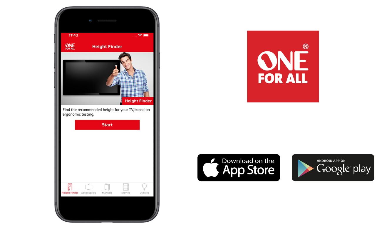 Uchwyt płaski One For All WM4251 Ultra Slim i aplikacja