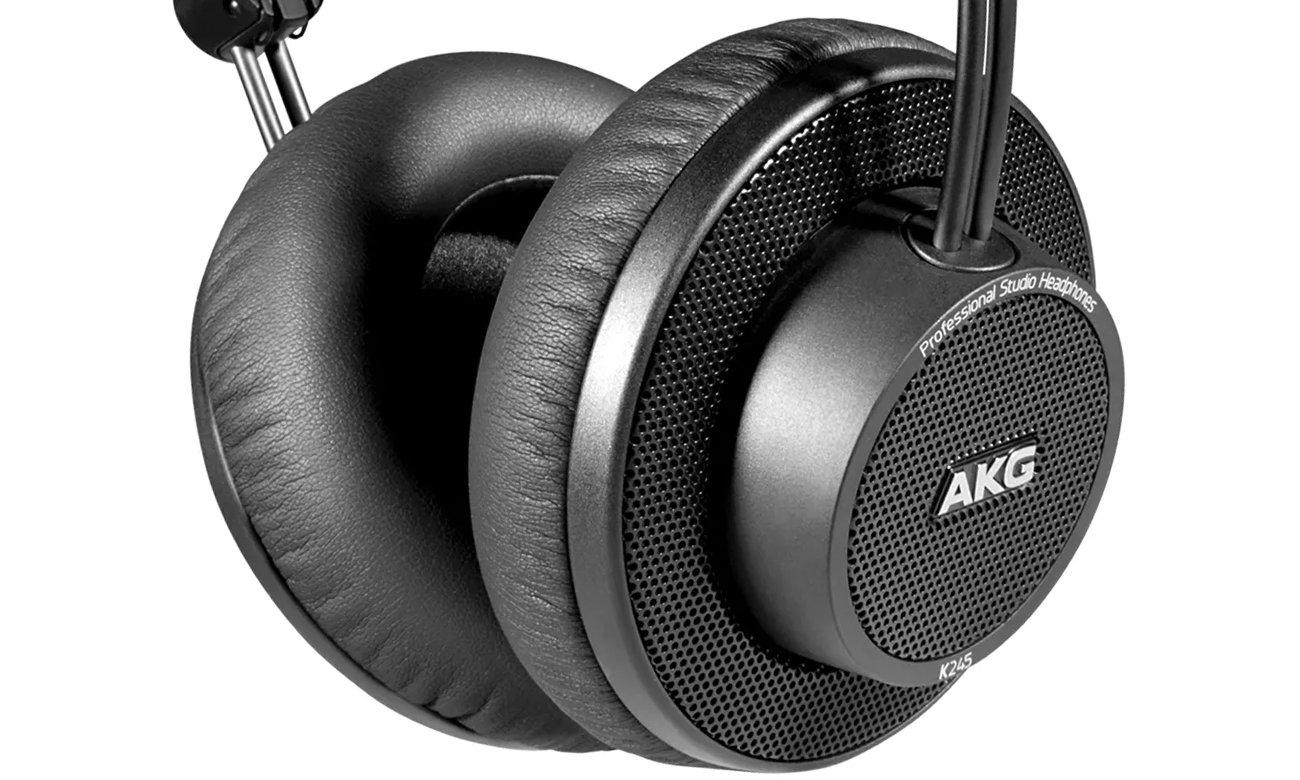 Neutralne brzmienie profesjonalnych słuchawek studyjnych AKG K245