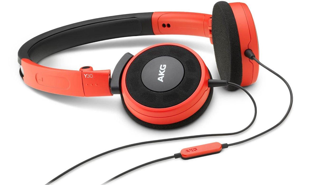 Słuchawki z mikrofonem AKG Y30U czerwone