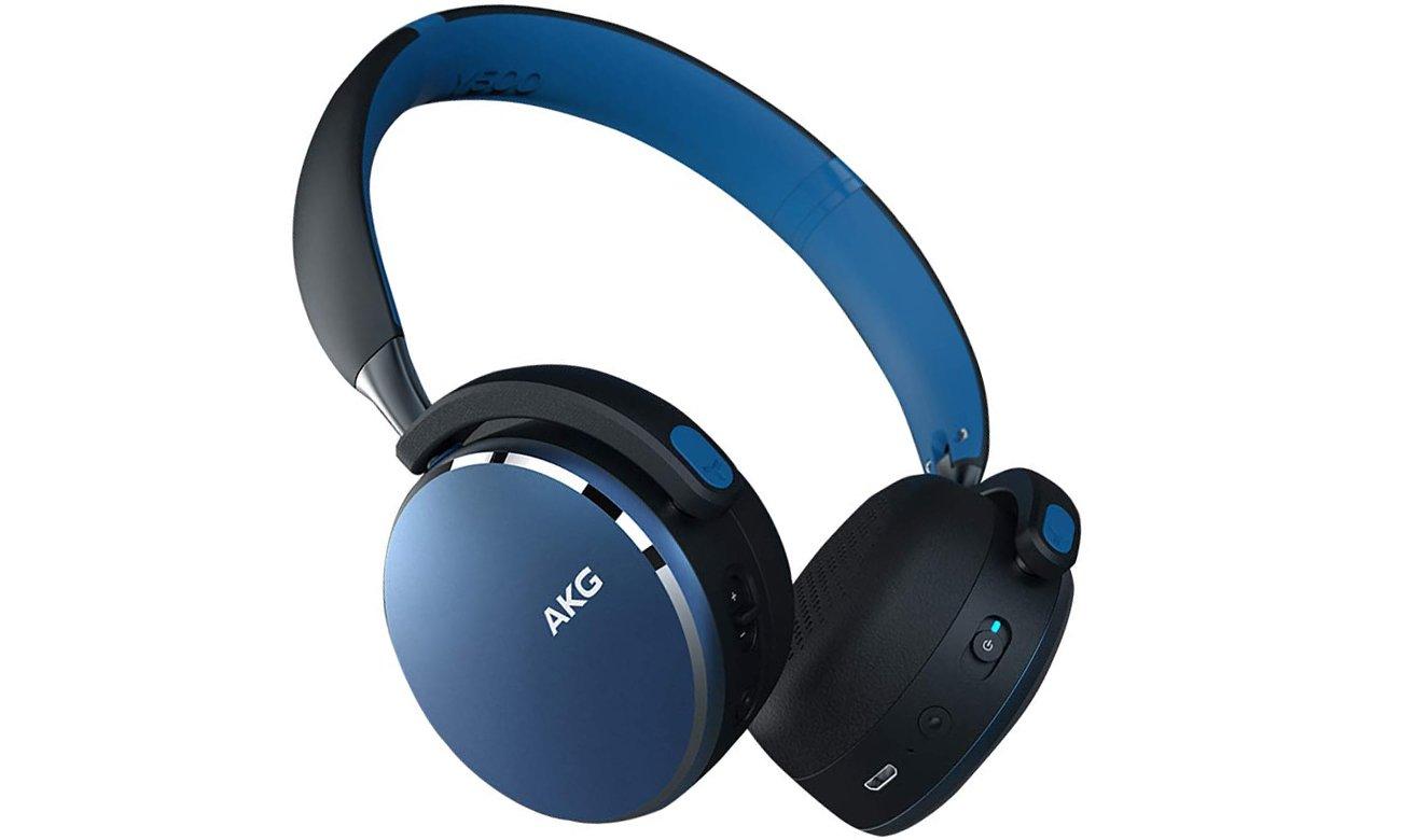 Słuchawki bezprzewodowe AKG Y500WBL niebieskie