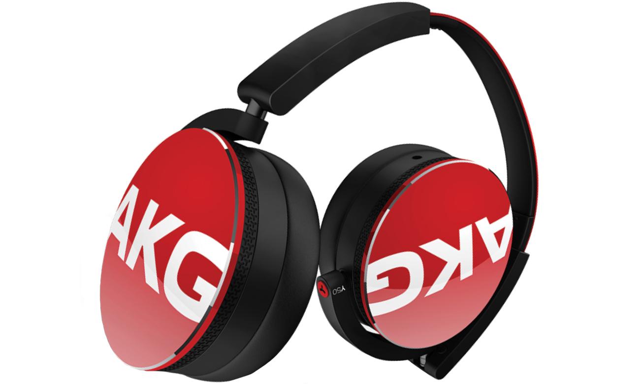 Słuchawki AKG Y50 czerwone red