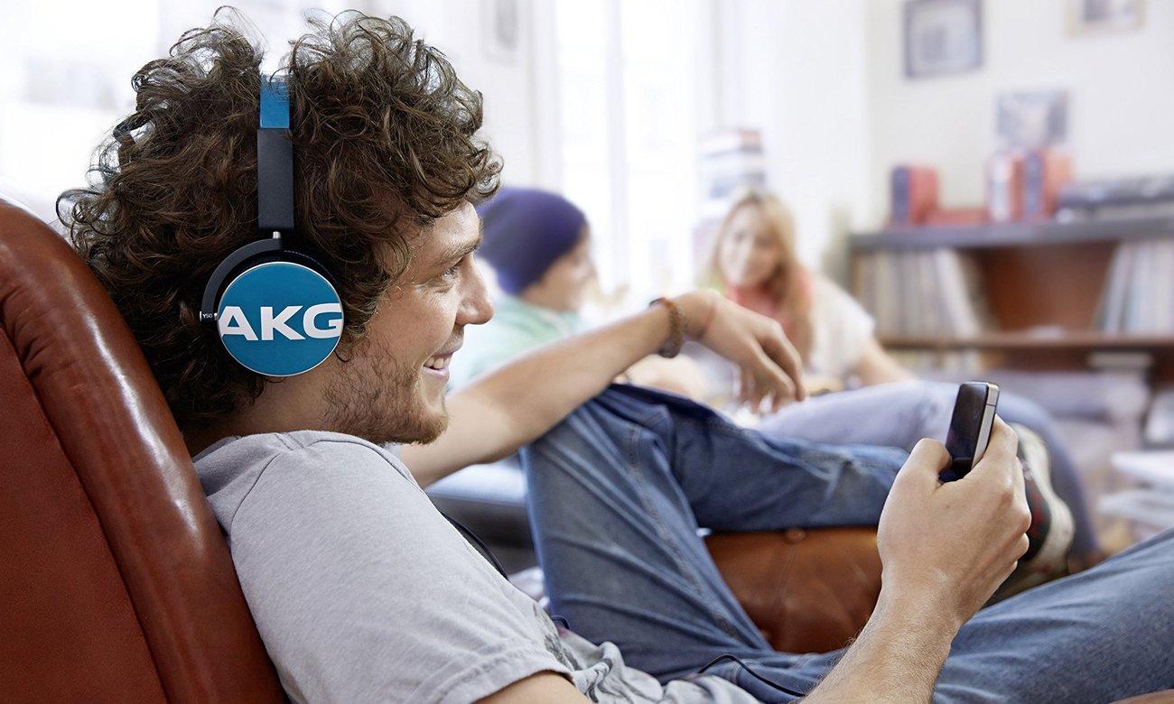 Wysoka jakość dźwięku dzięki słuchawką AKG Y50