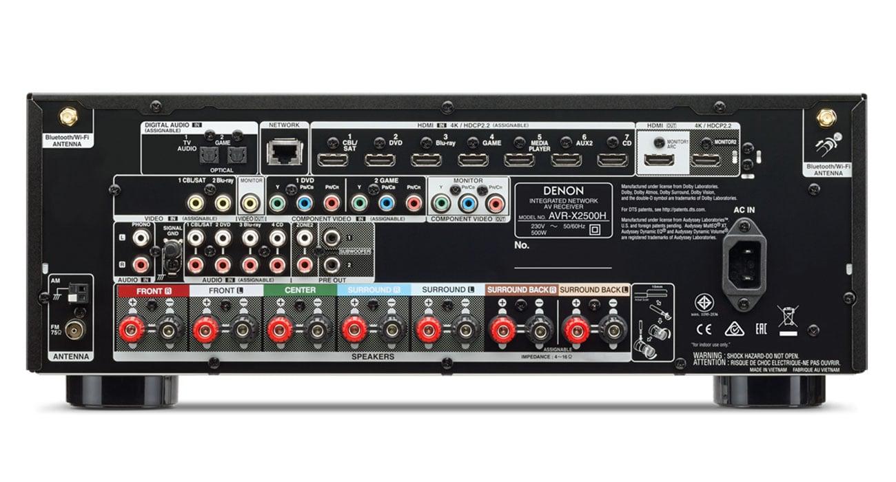 Nowoczesny Amplituner Denon AVR-X2500H