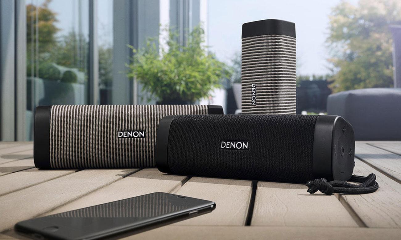 czarno-szary głośnik Denon Envaya Pocket Black-Grey DSB50BTBGEM