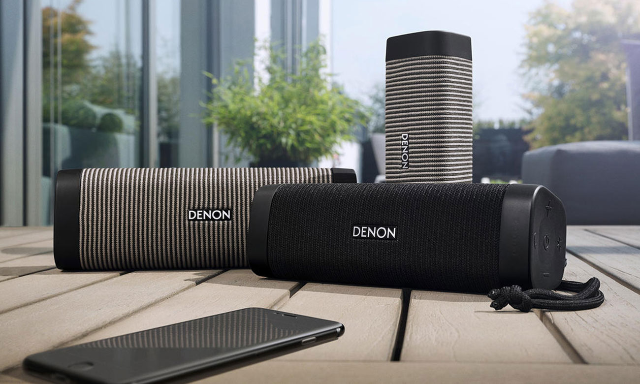 czarny głośnik Denon Envaya Pocket DSB50BTBKEM