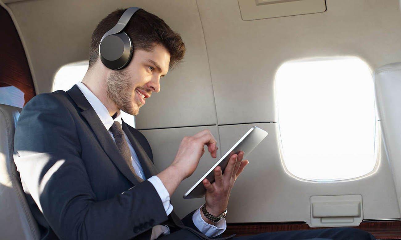 Słuchawki bezprzewodowe Philips TAPH805BK z funkcją ANC