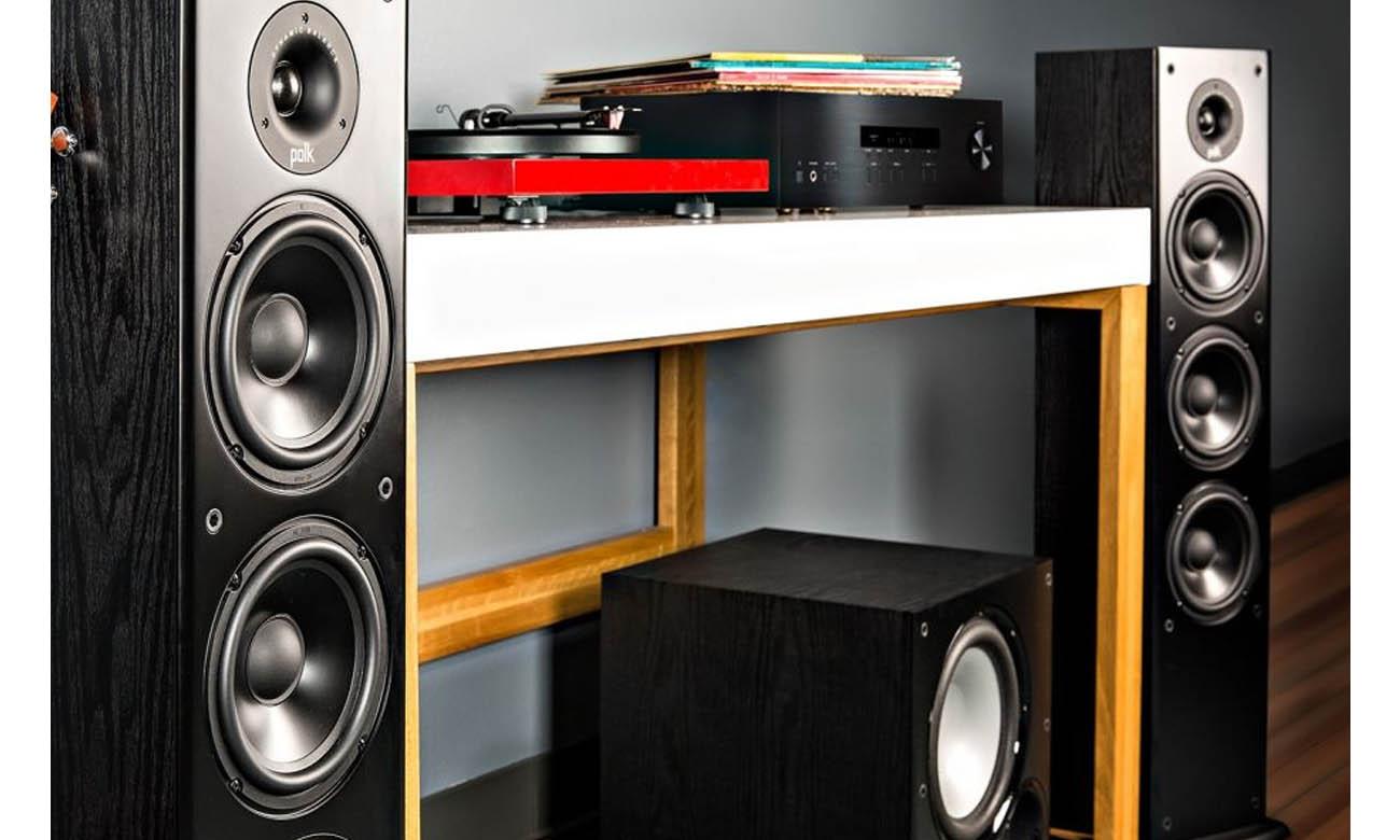 Kolumna głośnikowa z membraną bierną Polk Audio T50 czarna