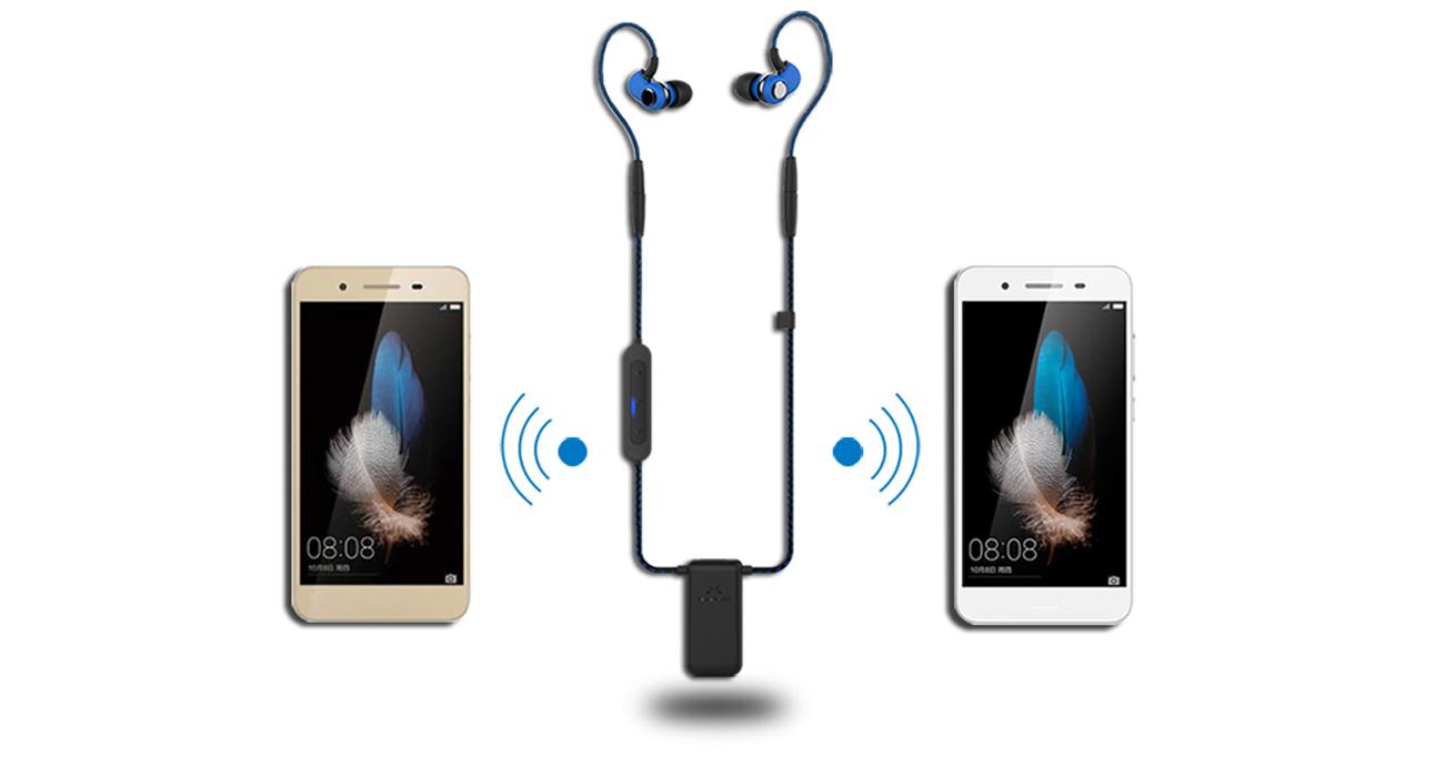 Wygodne słuchawki Bluetooth i przewodowe SoundMagic ST30 z wydajną baterią