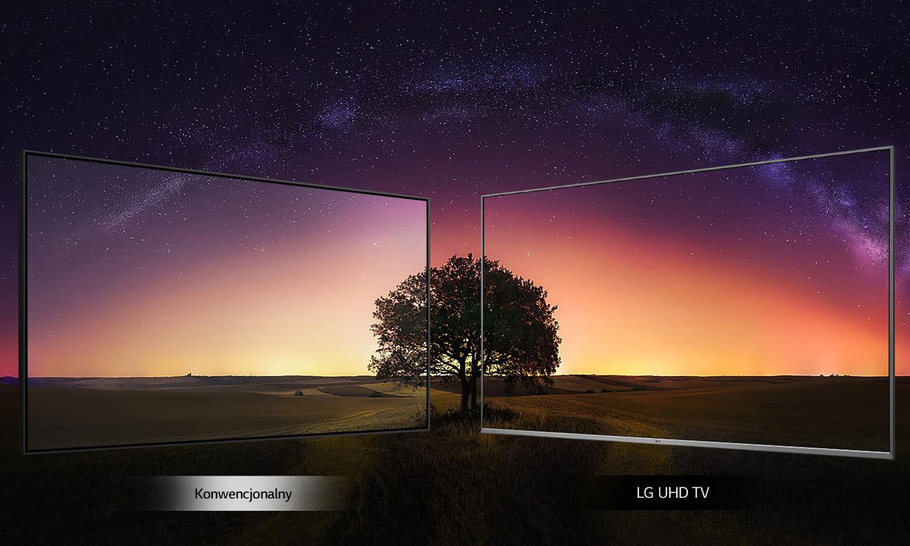 Lepszy kontrast w telewizorze LG 43UM7400