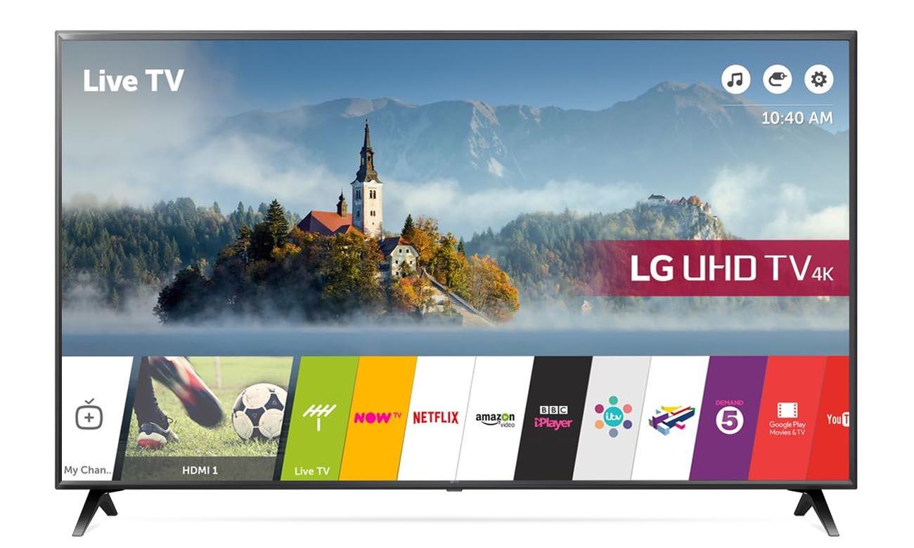 Bezpieczny i funkcjonalny system Smart webOS 3.5 w tv LG 50UK6300
