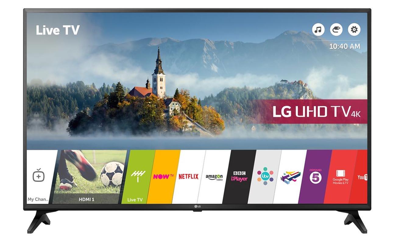 Telewizor UHD 4K LG 55UK6200 z czterordzeniowym procesorem