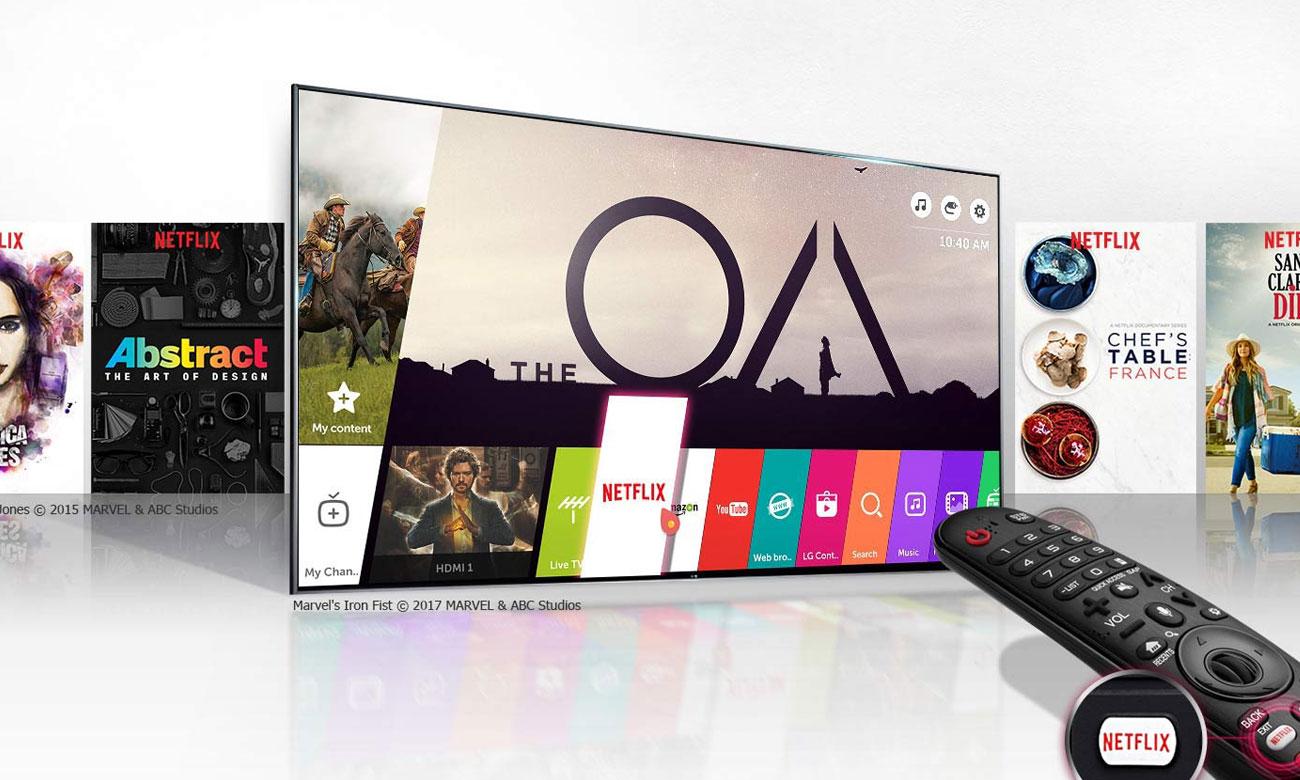 Bezpieczny i funkcjonalny system Smart webOS w tv LG 55UK6300
